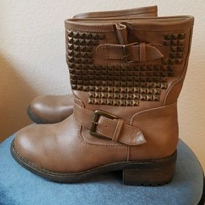 Brown Studded Boots